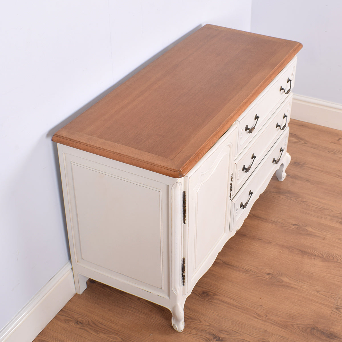 Painted Oak Chest Cabinet