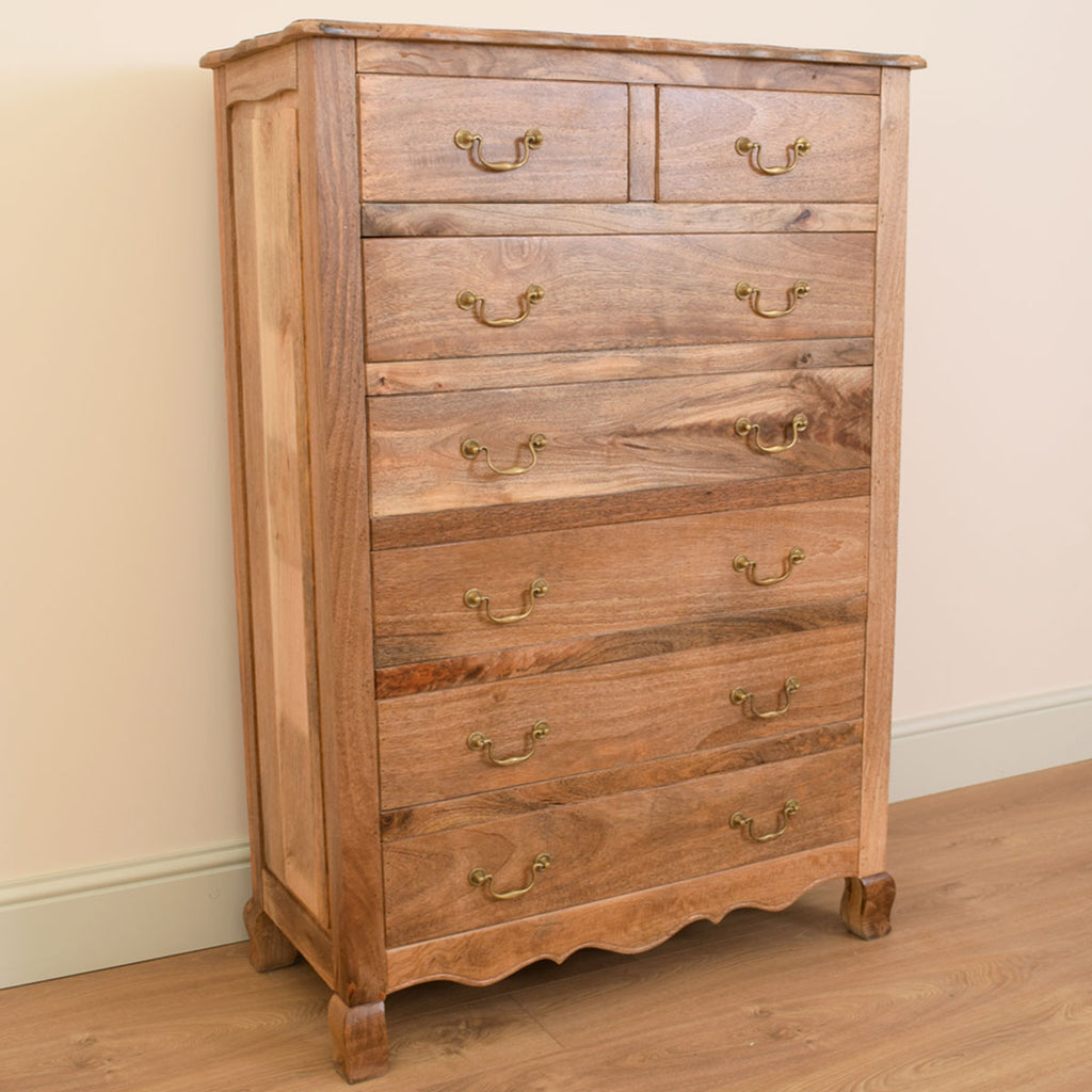 Large Mango Wood 2/5 Chest of Drawers