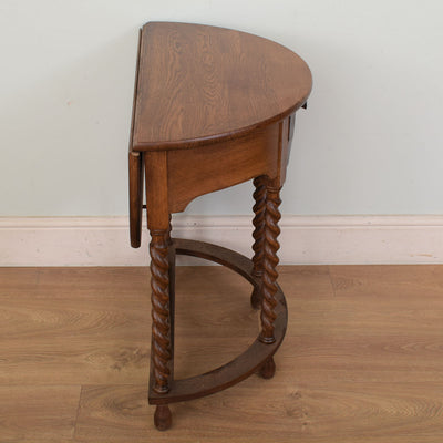 Barley-twist Drop Leaf table