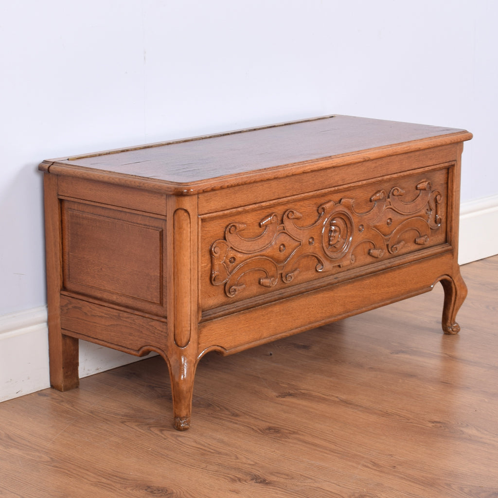 Carved French Blanket Box