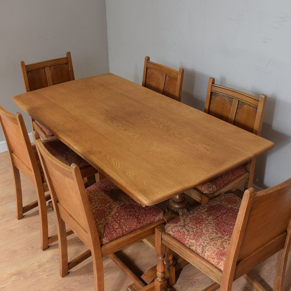 Vintage Oak Table & 6 Chairs