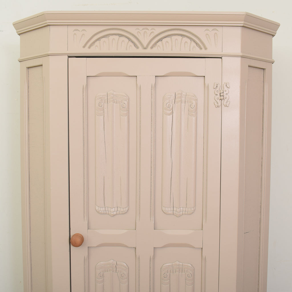 Painted Carved Oak Hall Robe