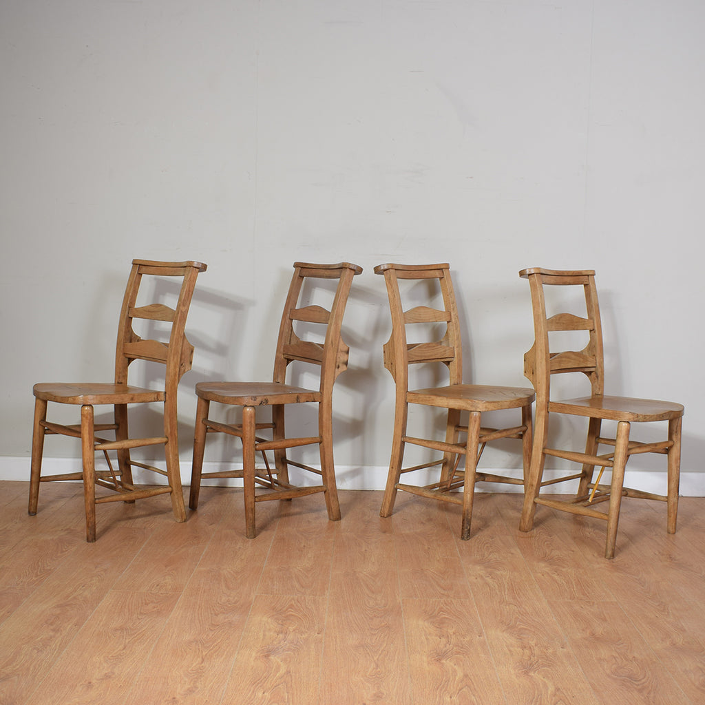 Four Chapel Chairs