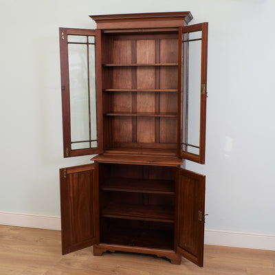 Traditional Mahogany Bookcase Cabinet