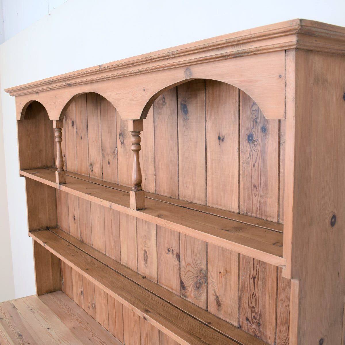 Large Rustic Pine Kitchen Dresser
