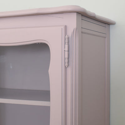 Painted Glass-Fronted Display Cabinet