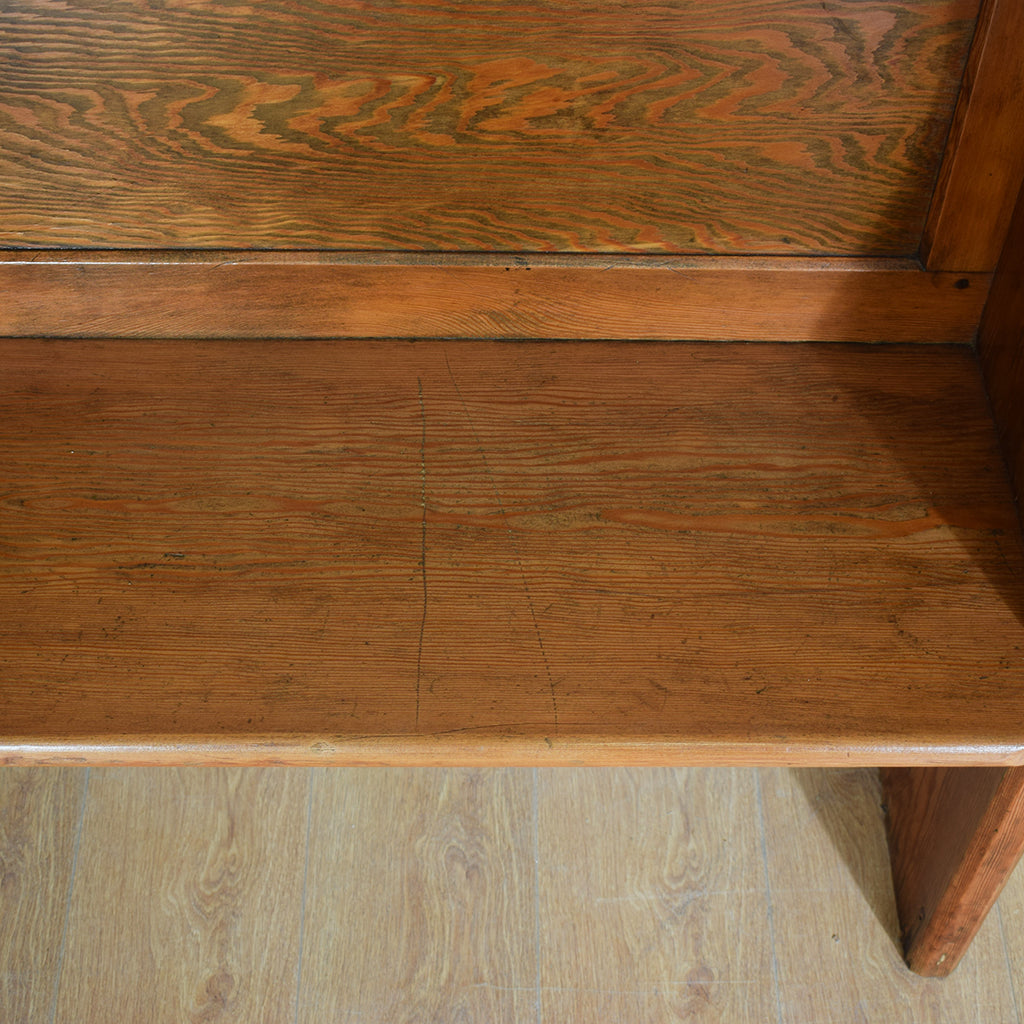 Original Pitch Pine Church Pew / Bench