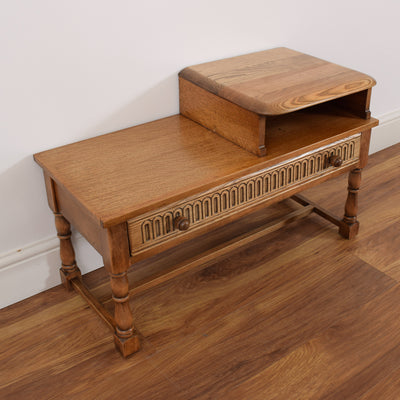 Restored Oak Telephone Table
