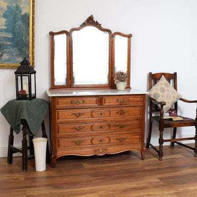 Marble Top Vanity Chest / Dressing Table