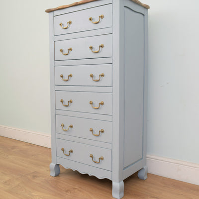 Large 6 Drawer Painted Mango Chest