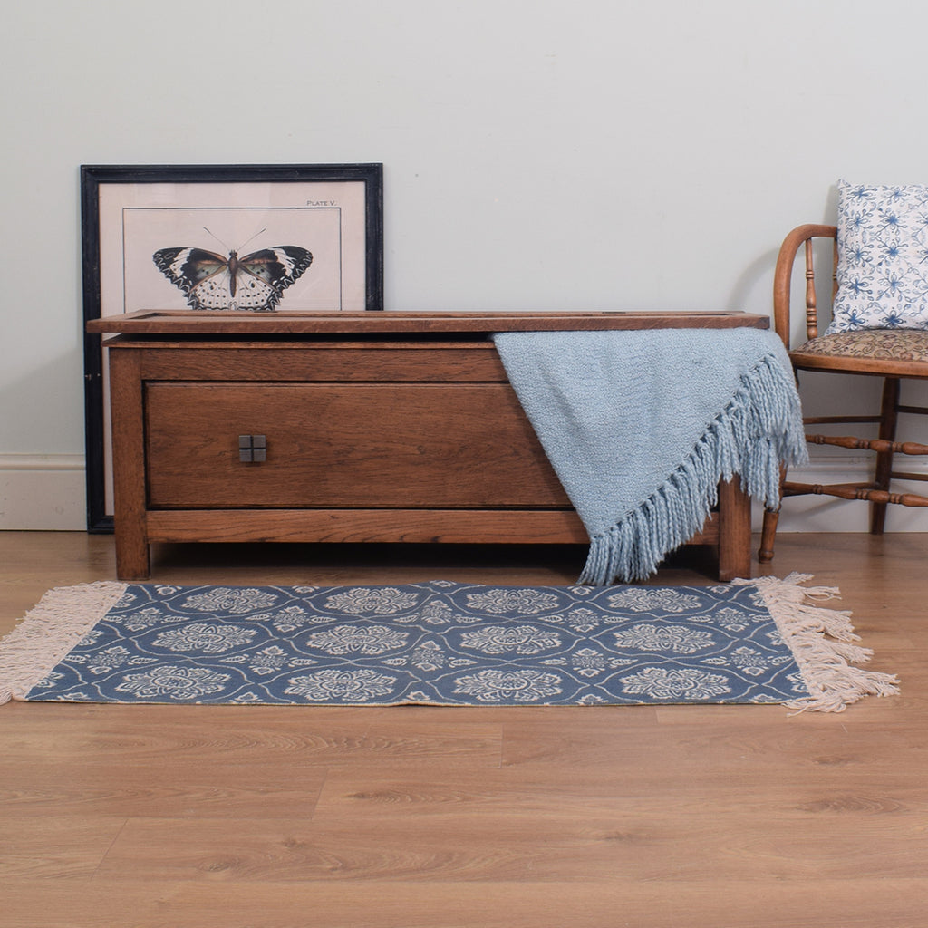 Rustic Oak Blanket Box