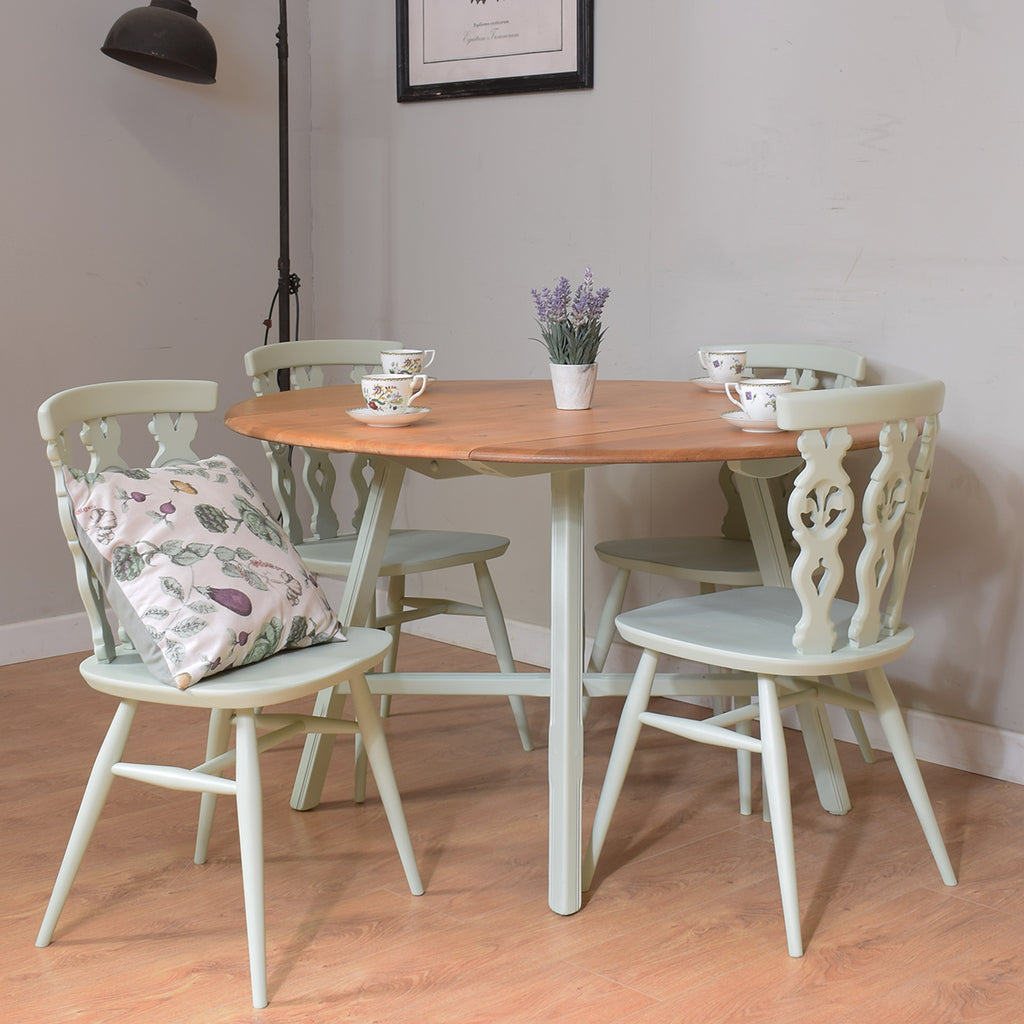 Ercol Fleur-De-Lys Table And 4 Chairs