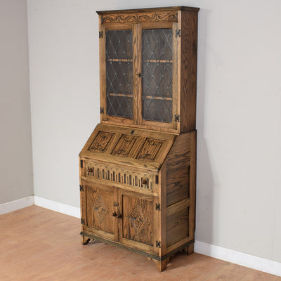 Restored Oak Bureau Bookcase