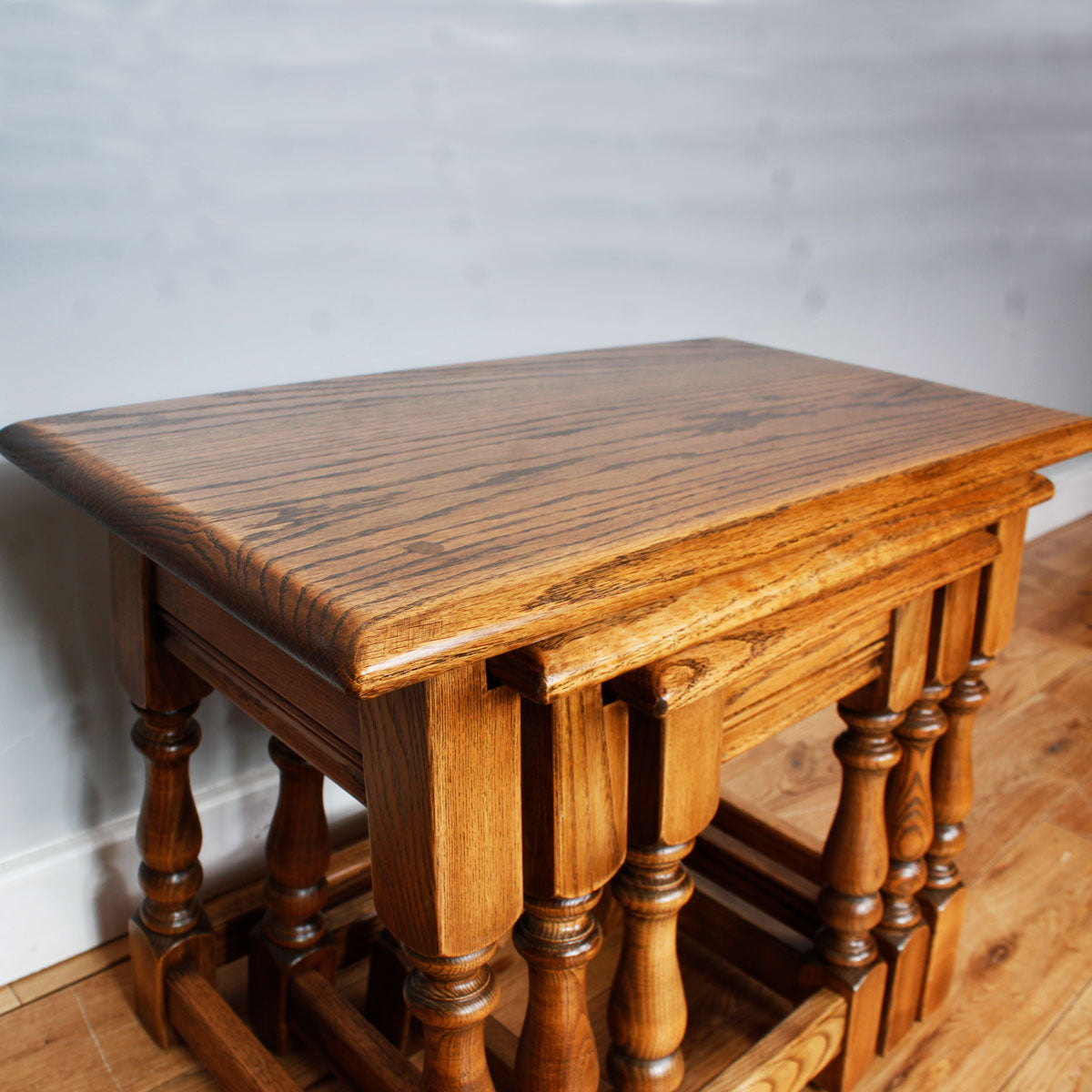 Sturdy Oak Nest of Tables