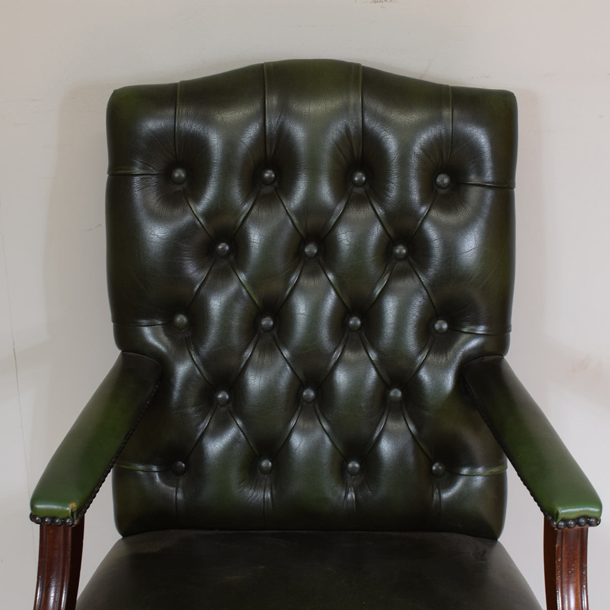 Chesterfield Style Leather Captains Chair
