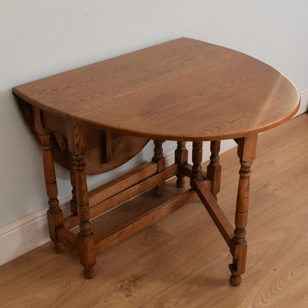 Restored Oak Drop Leaf Table