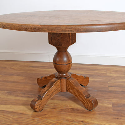 Dutch Oak Oval Table & 4 Chairs