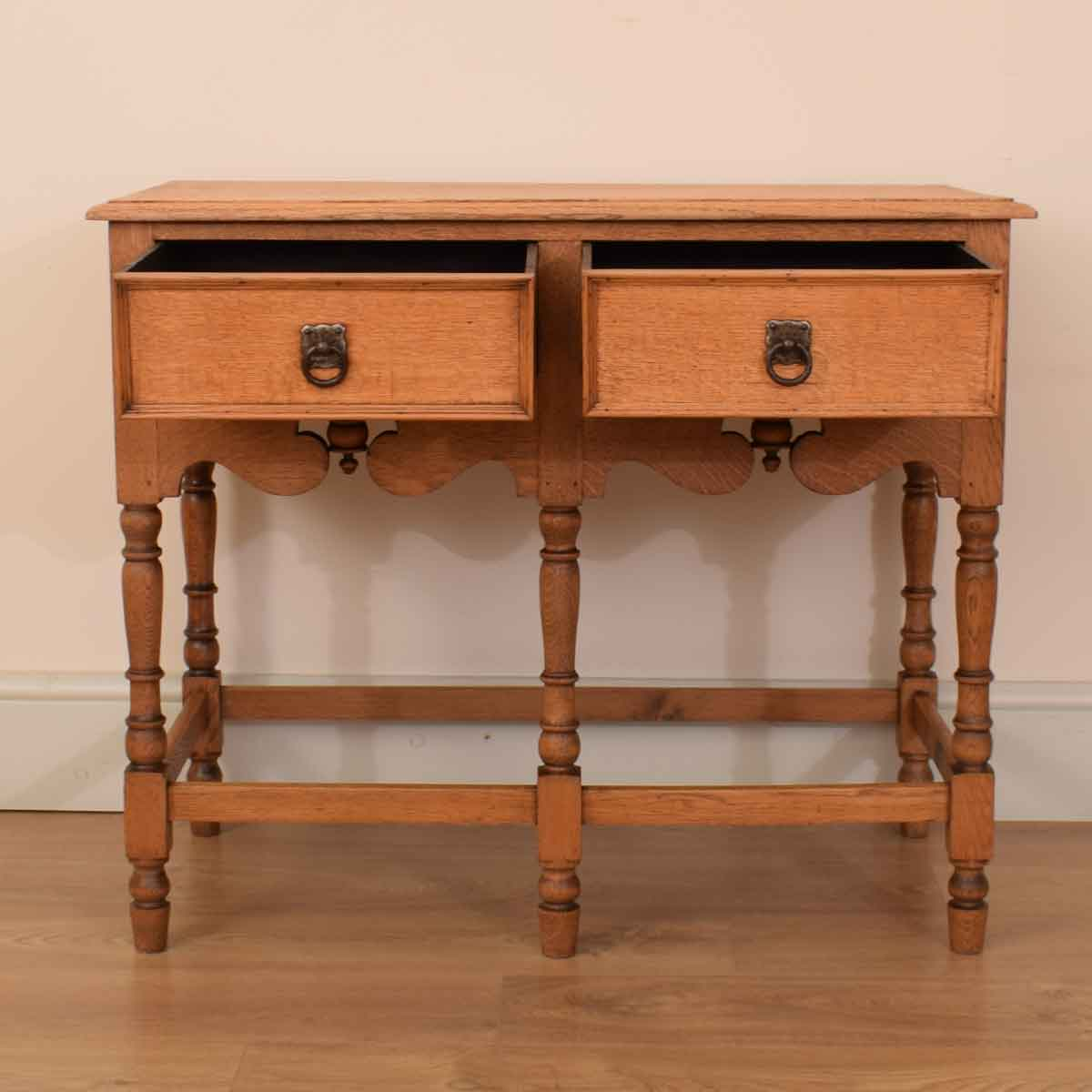 Carved Oak Console Table