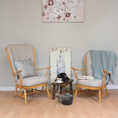 Pair Of Restored Ercol Windsor Fireside Chairs