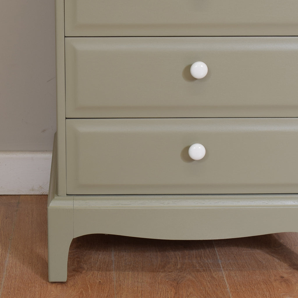Painted Small Chest Of Drawers / Large Bedside