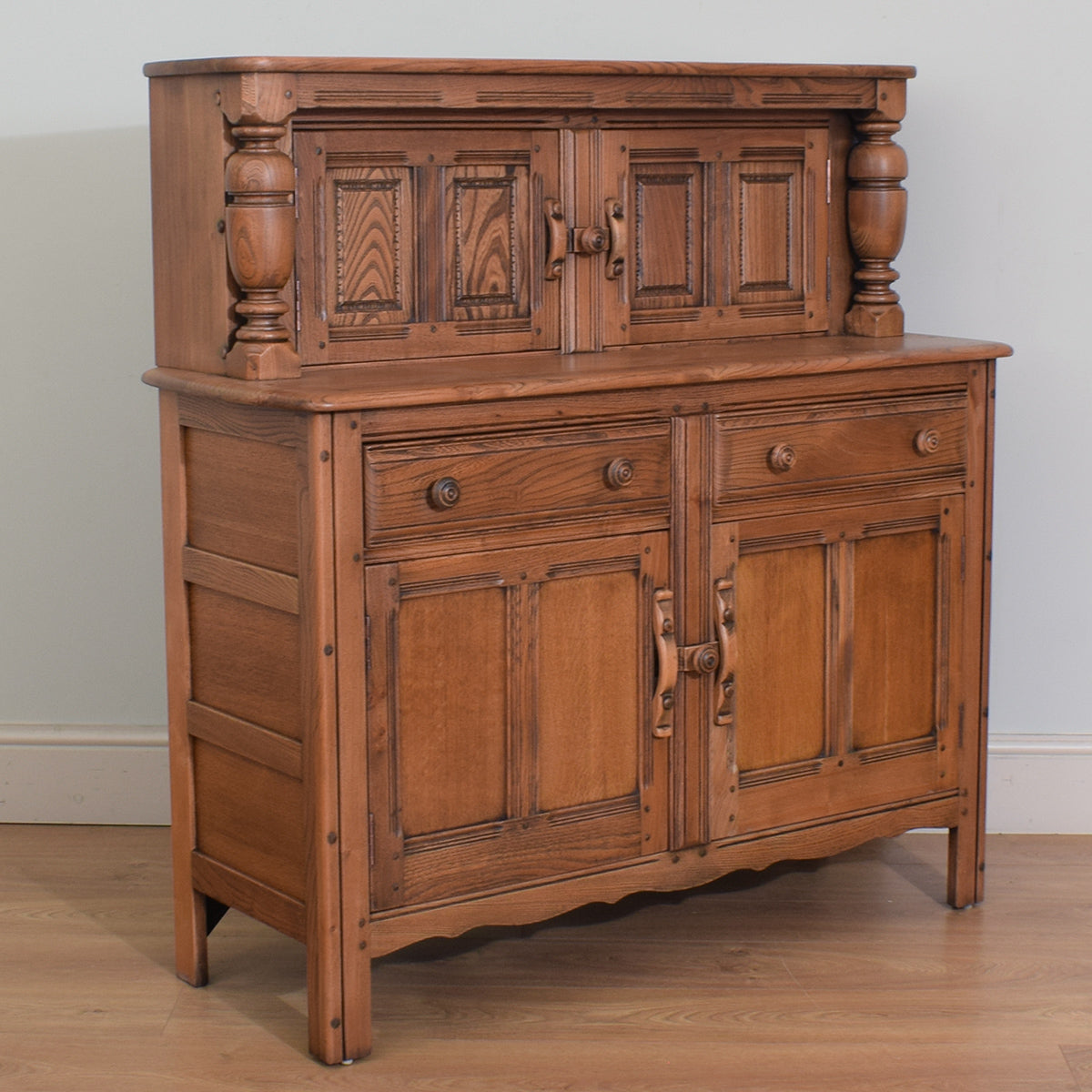 Ercol Elm Wood Court Cabinet