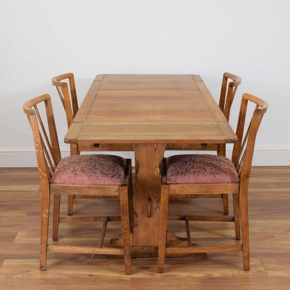 Restored Draw Leaf Table & 4 Chairs