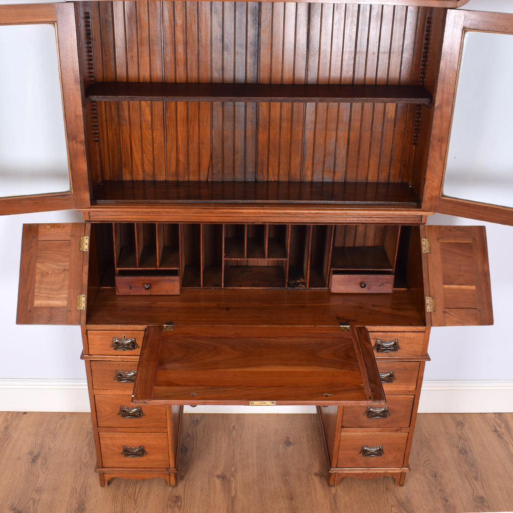 Beautiful Mahogany Bureau Bookcase
