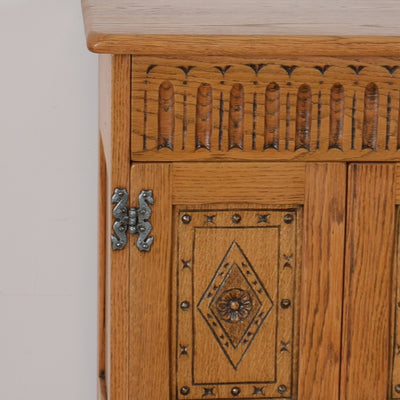 Old Charm Record Player Cabinet