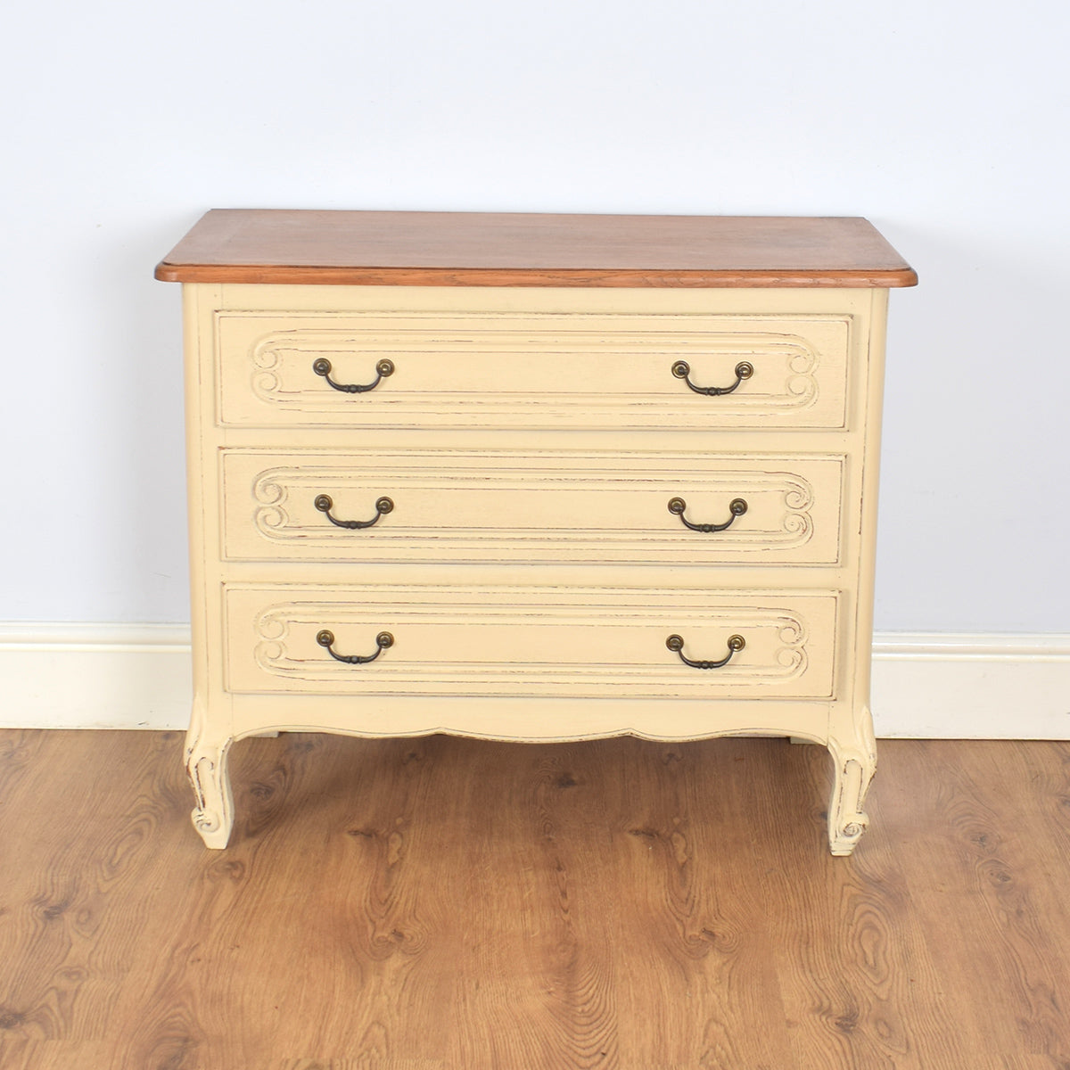 Shabby-chic Louis XV Style Chest of Drawers