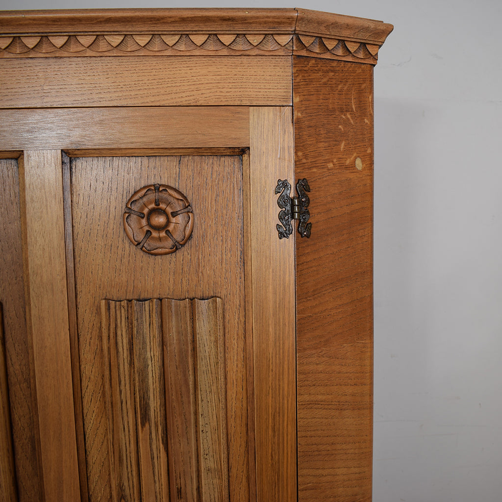 Restored Oak Hall Robe / Wardrobe