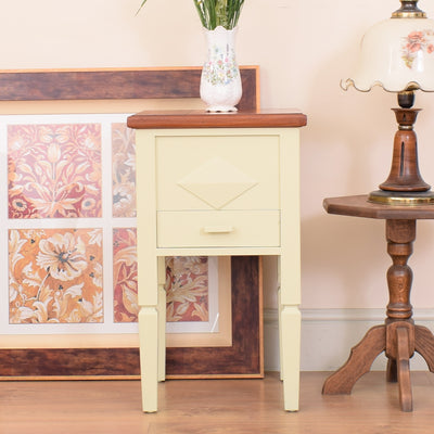 Painted Oak Cabinet