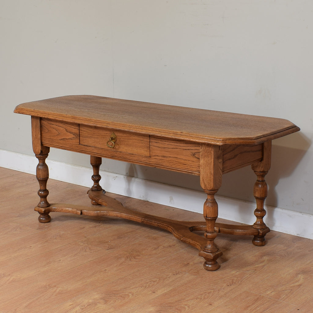 Vintage Rustic Oak Coffee Table
