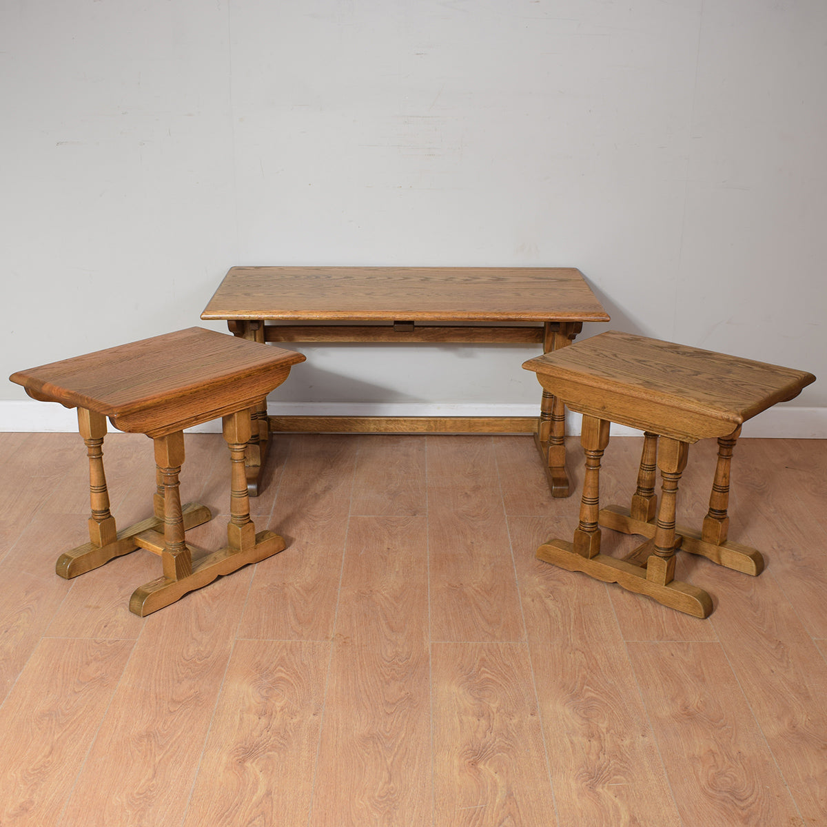Vintage Oak Nest Of Tables