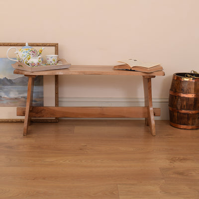 Rustic Solid Wood Bench