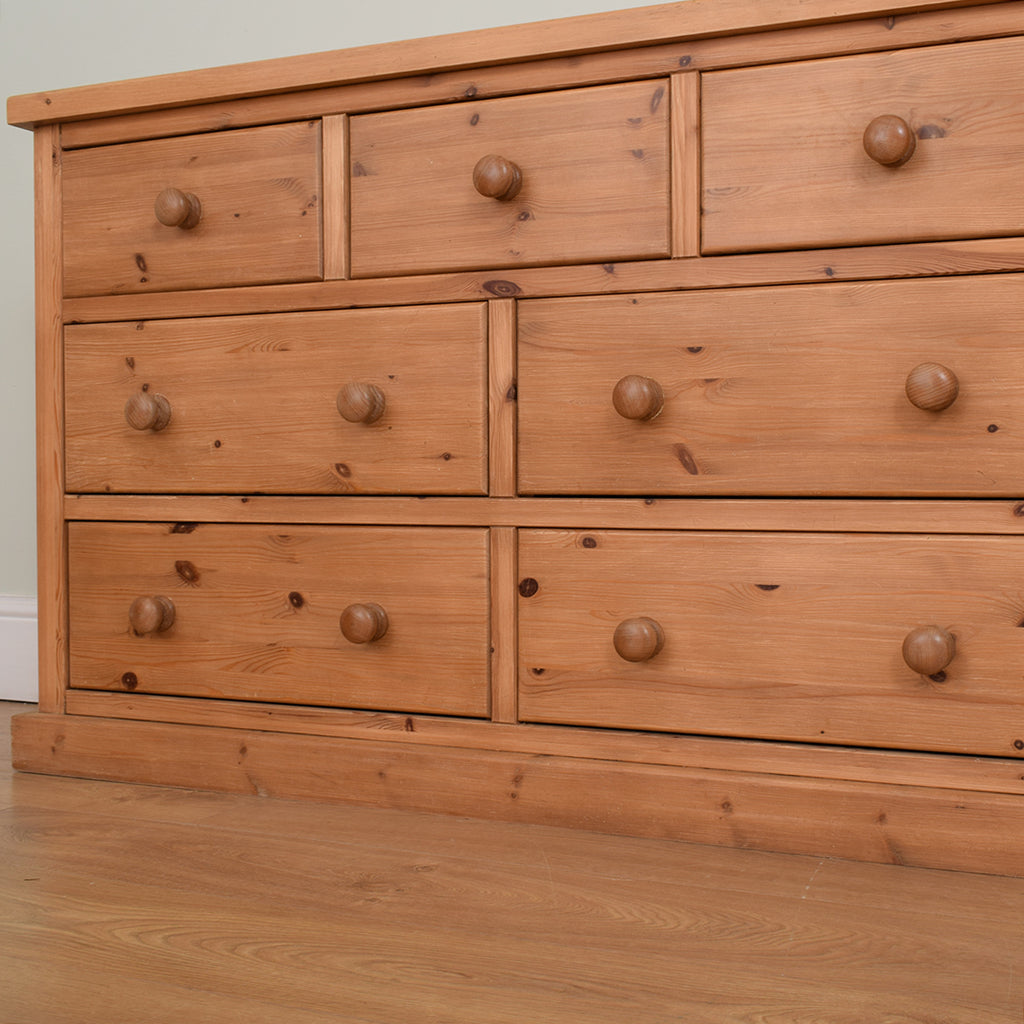 Low Pine Chest of Drawers