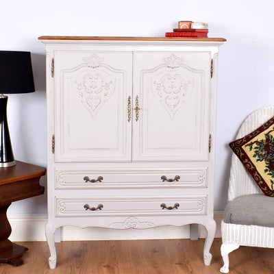 Beautiful Painted French Cabinet