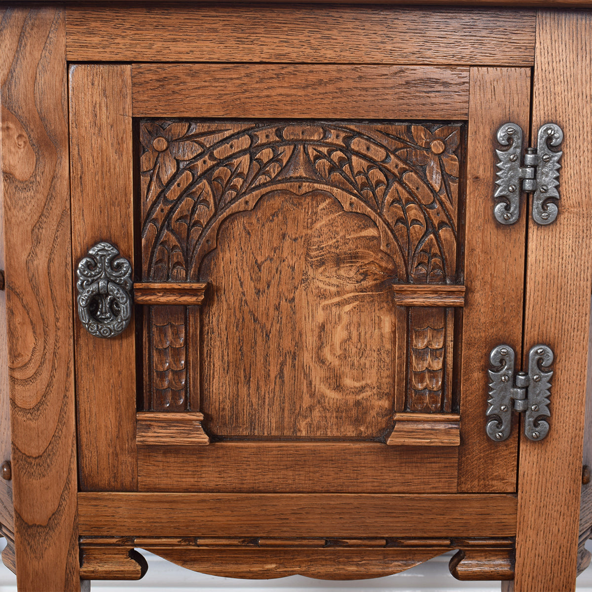 Carved Oak Old Charm Cabinet