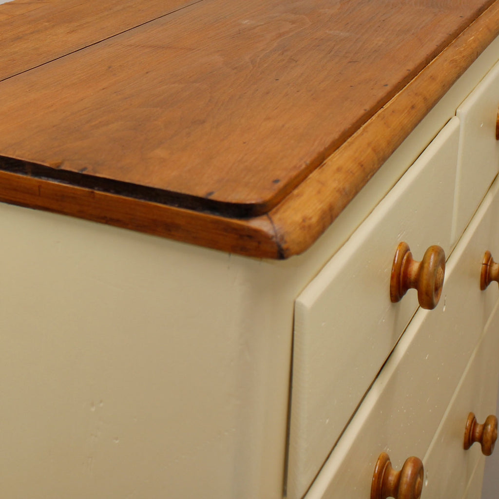 Edwardian Painted Pine Chest of Drawers