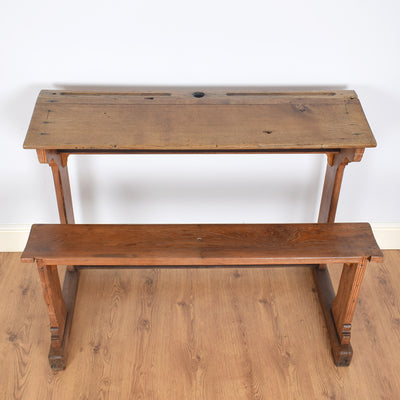 Oak Pew / School Twin Desk