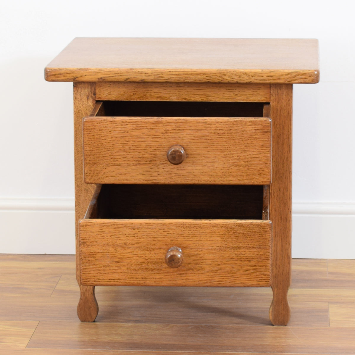 Oak Bedside Chest of Drawers