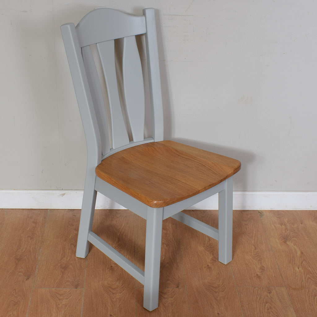 Painted Oak Table & 4 Chairs