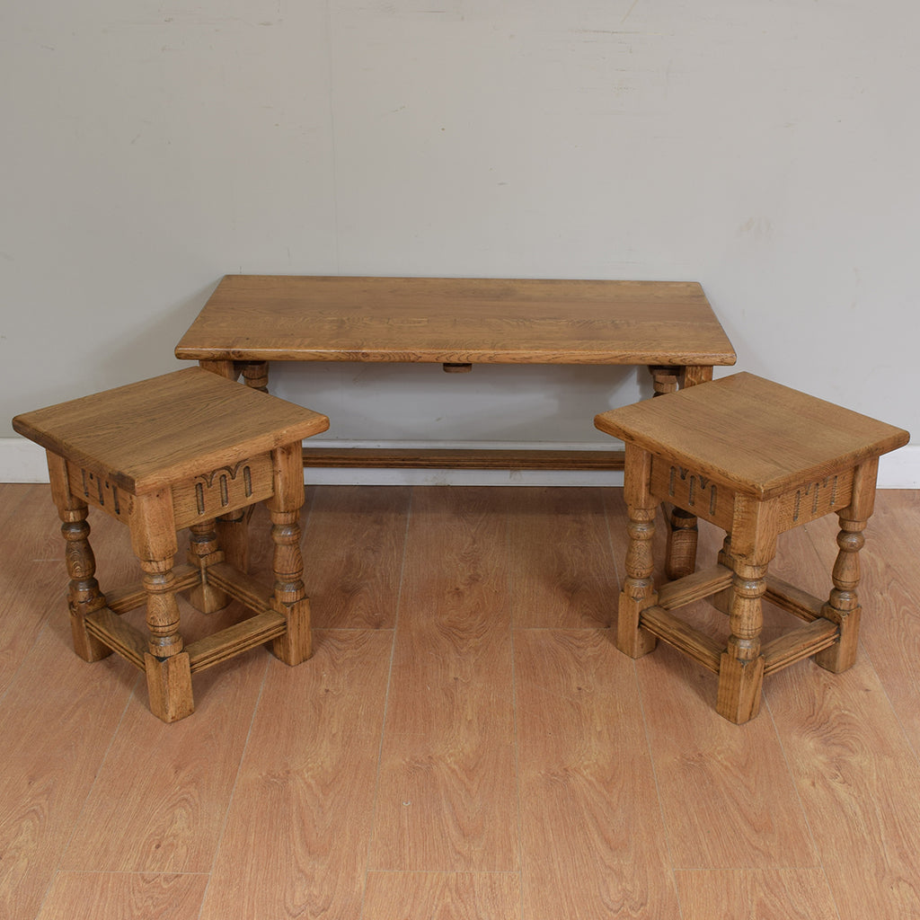 Vintage Priory Style Long John Nest Of Tables