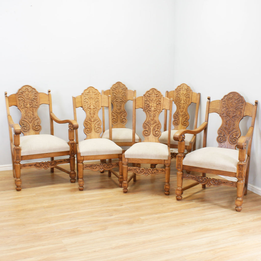 Extending Oak Table & 6 Chairs