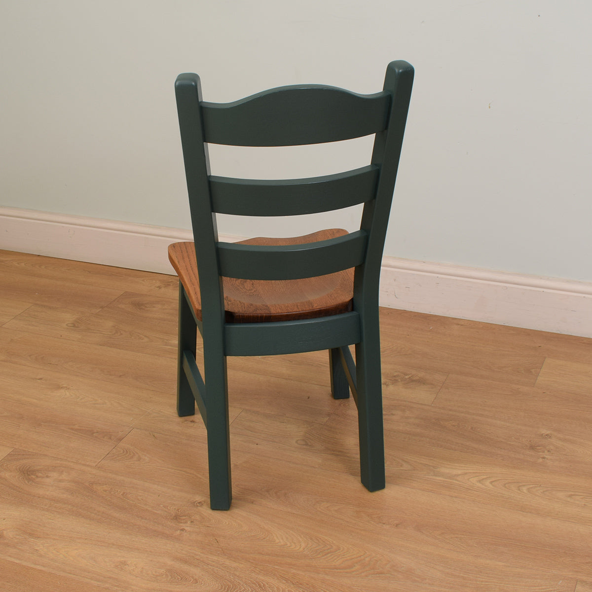 Painted & Oak table and 6 chairs