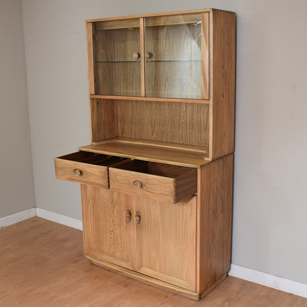 Ercol Windsor Display Cabinet / Glazed Bookcase