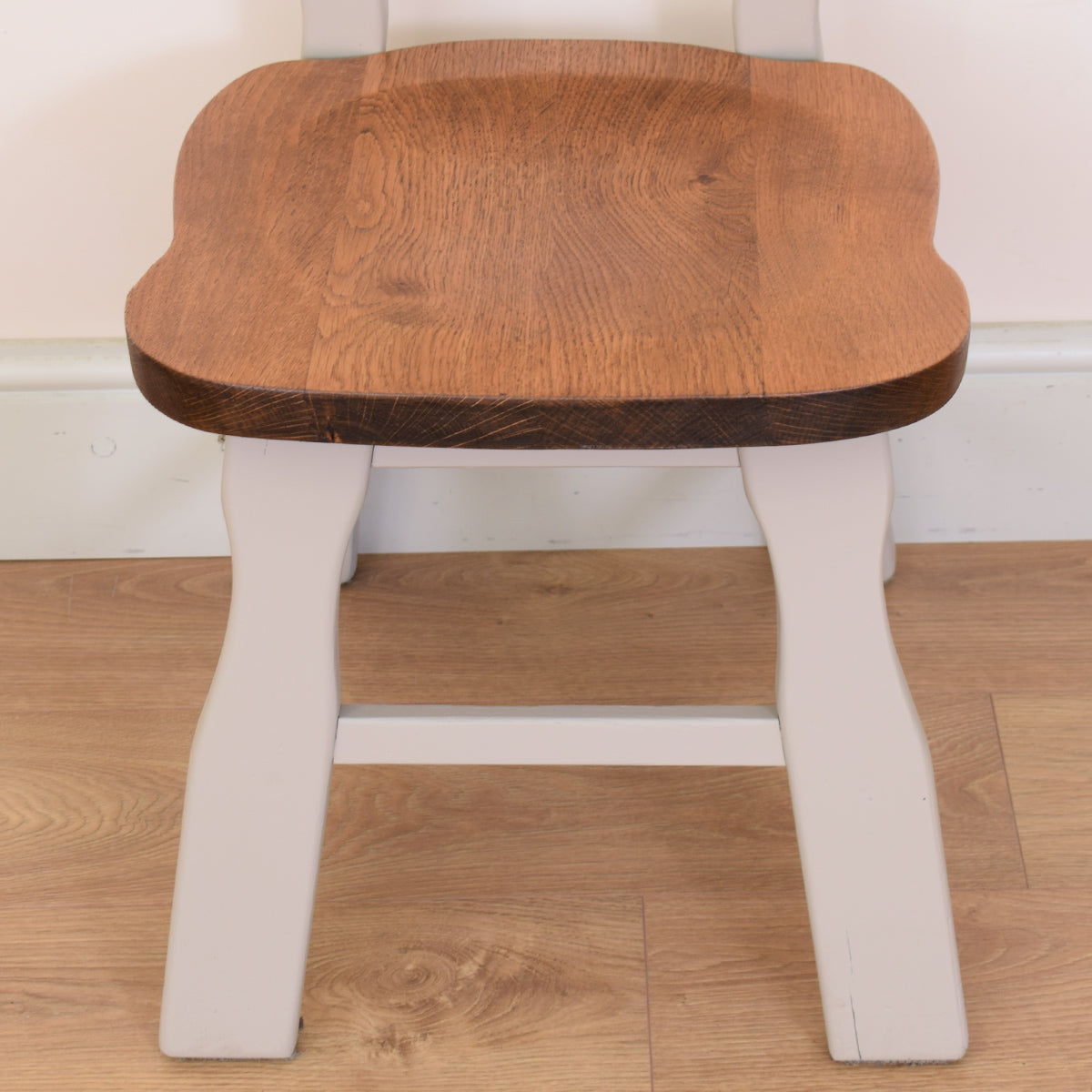 Painted Dutch Oak Table & Four Chairs