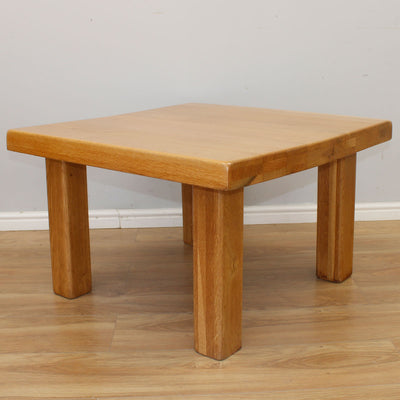 Chunky Light Oak Coffee Table