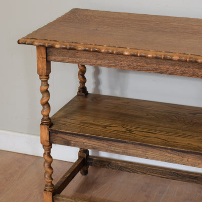 Vintage Barley Twist Hall Table / Side Table