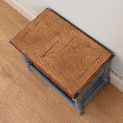 Painted and Oak Sewing Box