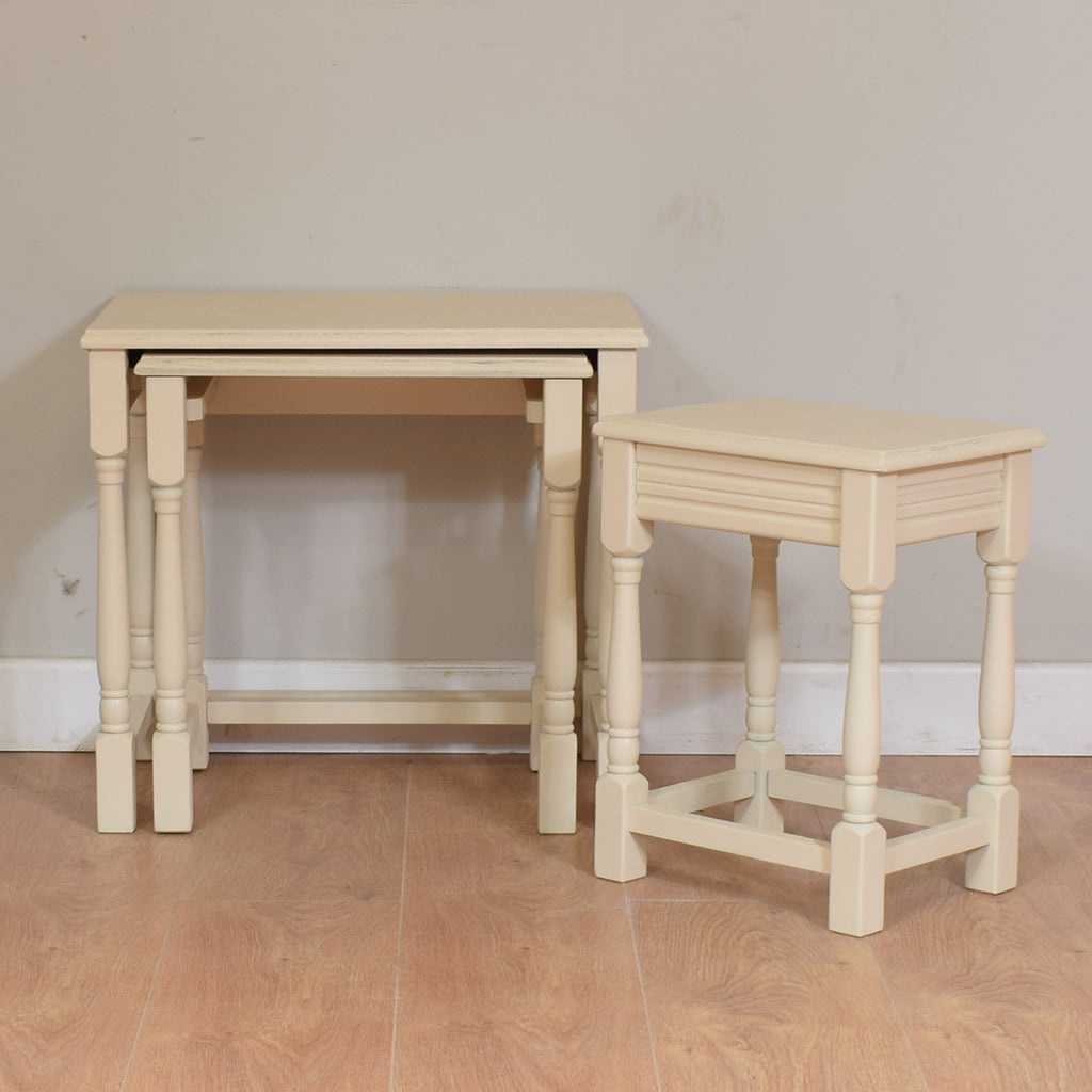 Painted Oak Nest Of Tables